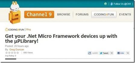 La μPLibrary su Channel 9 ! - DevExperience | .Net Micro Framework | Scoop.it