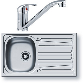 Sparta Kitchen Sink, Waste & Tap. 860x500mm (Reversible). Pyramis PY-SINK-10TAP | Showers, Taps & Bathrooms | Scoop.it