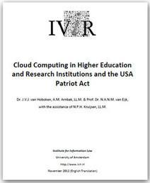 Cloud Computing: le Patriot Act s'applique aussi en Europe - Correspondant Informatique et libertés du CNRS | Droit des réseaux - NTIC - Cloud computing | Scoop.it