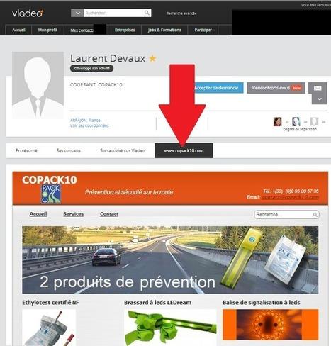 Nouveauté Viadeo : comment ajouter une page Internet personnalisée sur votre profil   Social Media Curation par Mon Habitat Web   Scoop.it