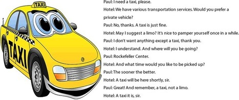 Booking a taxi conversation at a hotel | Learning Basic English, to Advanced Over 700 On-Line Lessons and Exercises Free | Scoop.it
