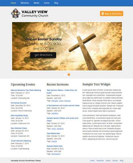 Versatile Church Theme for WordPress | Vandelay Design Blog | Wordpress templates | Scoop.it