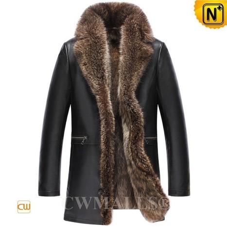 CWMALLS® Raccoon Fur Coats for Men CW836022 | Fur Lined Mens Coat | Scoop.it