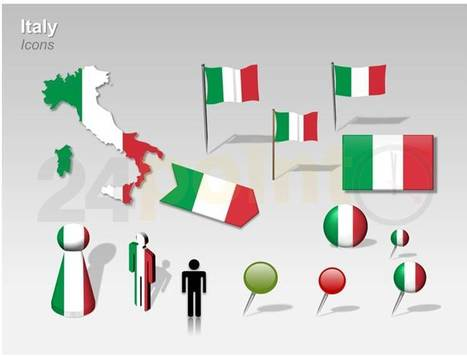 Italy Map: PowerPoint Template | PowerPoint Presentation Tools and Resources | Scoop.it