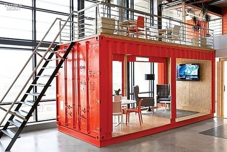 Ship Shape: Inhouse Designs a Shipping Container Office For Ad Agency Ninety9Cents   PROYECTO ESPACIOS   Scoop.it