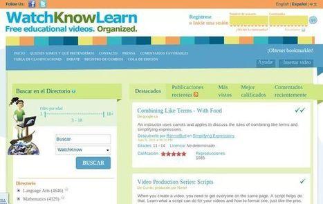 WatchKnowLearn, directorio con miles de vídeos educativos | videos educativos | Scoop.it