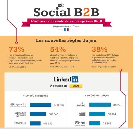 Les entreprises #BTOB les plus influentes sur les réseaux sociaux en France | Veille et Innovation en Marketing B2B | Scoop.it