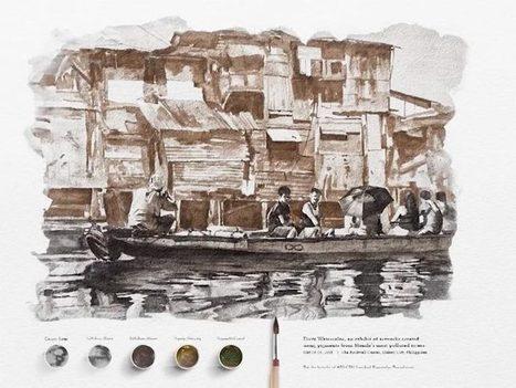 Dirty Watercolor – Des aquarelles peintes avec l'eau polluée des rivières | Planete DDurable | Scoop.it