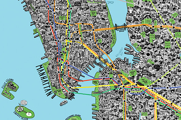 Intricately Detailed Hand Drawn Map Of New York City | Digital-News on Scoop.it today | Scoop.it