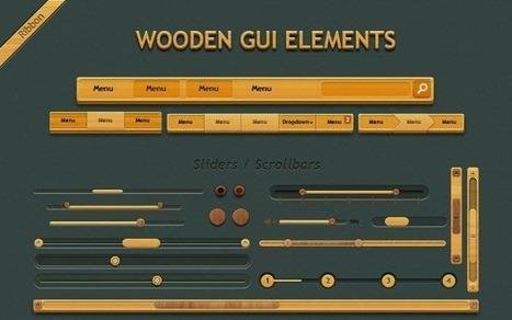 wooden gui set element by designshock download freebiee - DesignMain | r3volt | Scoop.it