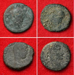 Hallan cuatro monedas de cobre de la antigua Roma en las ruinas de un castillo en Japón | LVDVS CHIRONIS 3.0 | Scoop.it
