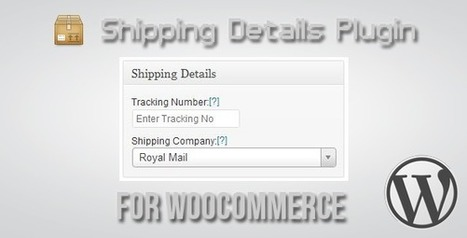 Wordpress Themes and Plugins: Shipping Details Plugin for ... | Integrating an email management system into WordPress | Scoop.it