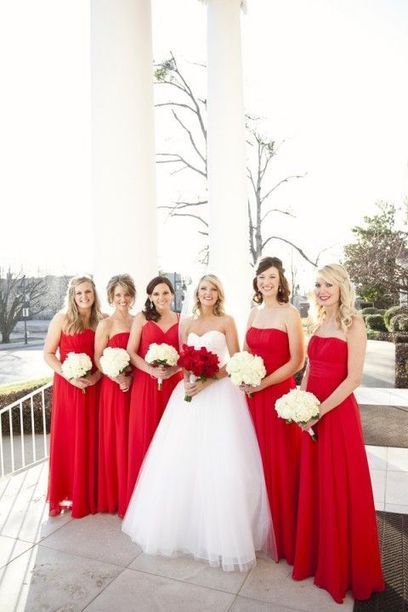 How About Red Bridesmaid Dresses - Dresseseveryday   gbridal   Scoop.it