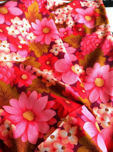 70s retro mod vintage fabric | whats been spotted on etsy today? | Scoop.it