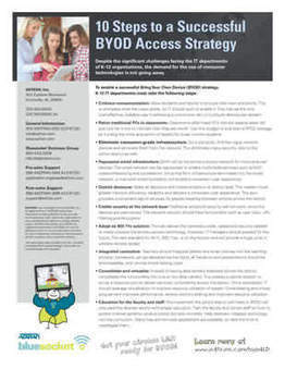 10 Steps to a Successful BYOD Access Strategy | iGeneration - 21st Century Education | Scoop.it