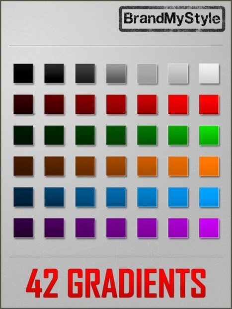 1000+ Free Photoshop Gradients for Designers | photoshop ressources | Scoop.it