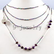 Fashion Purple Quartz Faceted Gemstone Beads Tiers Jewelry Necklace GN270 | Fab Fashions | Scoop.it