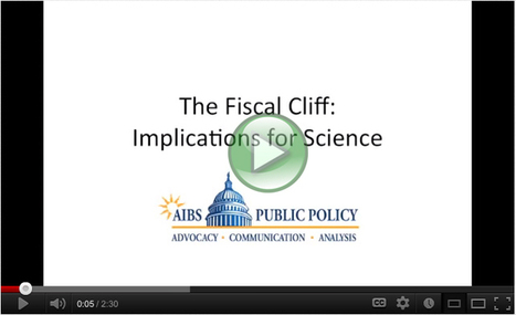 AIBS Public Policy Office | AIBS Video Explains Implications of the Fiscal Cliff for Science | STEM and education | Scoop.it