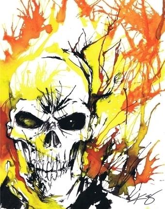 Ghost Rider, in Jason WGavin's Artist: Kevin Eslinger Comic Art Gallery Room - 1195410 | Savvy Comics | Scoop.it