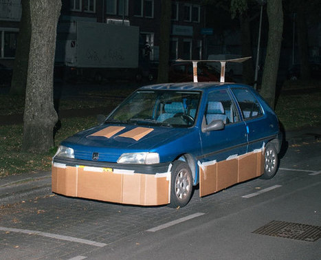 Photographer Gets Up At Night To Pimp Random Strangers' Cars With Cardboard | Inspired By Design | Scoop.it