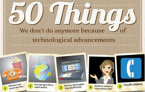 50 things you don't need to do anymore — Thanks to Technology! | Communication design | Scoop.it