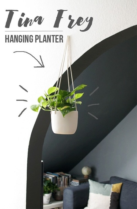 Happy Interior Blog: Swinging Plant With Tina Frey Designs | A. Perry Design Lounge | Scoop.it