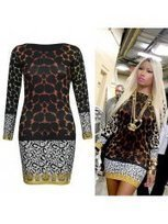 Brown White Nicki Minaj Celeb Leopard Animal Bodycon Mini Dress | Fashion and Moda | Scoop.it