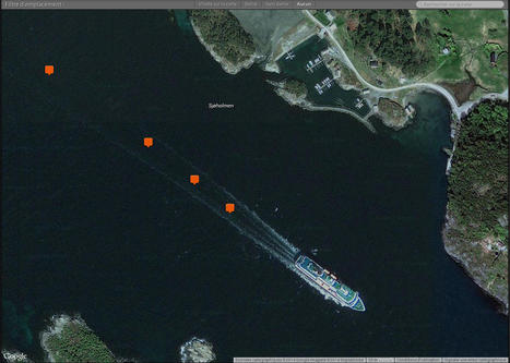 encore un navire Hurtigruten sur google map / earth  © Paul Kerrien - http://toilapol.net | Hurtigruten Arctique Antarctique | Scoop.it