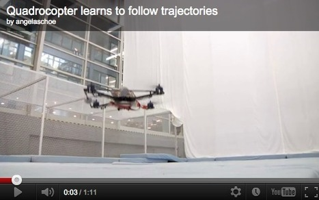 Quadrocopter learns to follow trajectories | Amazing Science | Scoop.it