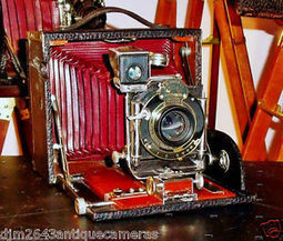 Kodak Screen Focus Red Bellows No4 4X5 Plate/Film Rare Find Historical Camera | black and white film photo | Scoop.it