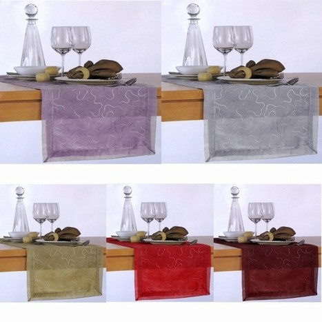 Cara Swirl Organza Table Runner by Hoydu - Manchester House | Soft Furnishings | Scoop.it