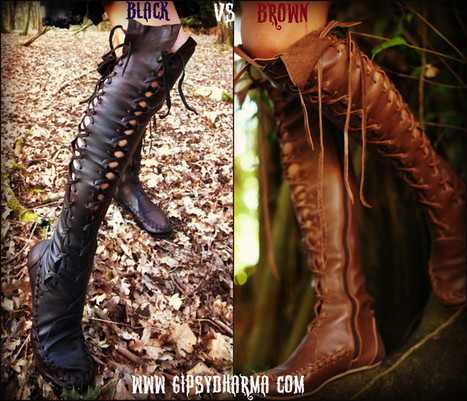 GiPSY Dharma unique handmade clothing and leather boots for women | Women Shoes Addiction | Scoop.it