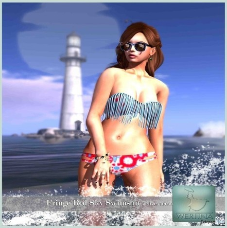 Fringe Red Sky Swimwear Group Gift by WERTINA | Teleport Hub - Second Life Freebies | Second Life Freebies | Scoop.it