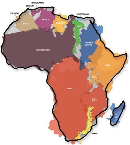 The True Size Of Africa | iPads in Geography Australia | Scoop.it