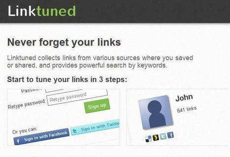 Ne perdez plus vos liens, Linktuned | Social media - E-reputation | Scoop.it