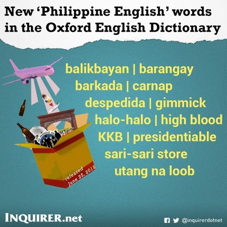 "40 Filipino-coined words now in Oxford dictionary | Resources on ""Englishes"" 