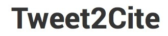 Cite Tweets with Tweet2Cite | K-12 Web Resources | Scoop.it