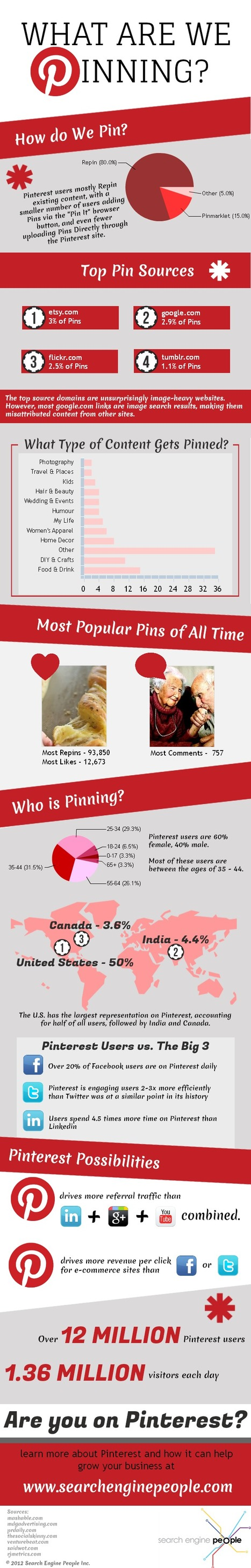 What Are We Pinning? [Infographic] | PINTEREST Watch - Curated by Jan Gordon | Scoop.it