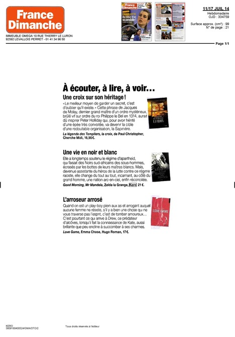 "France Dimanche - ""Une vie en noir et blanc"" | Zelda la Grange | Scoop.it"