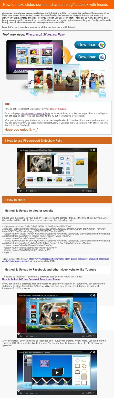 How to make slideshow then share on blog/facebook with friends | guide | Scoop.it