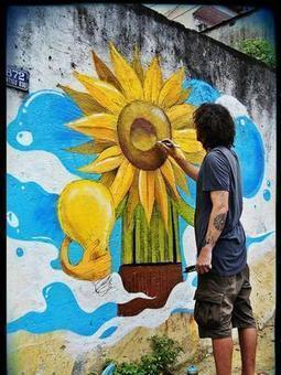 Contos ganham vida em muros de SP e RJ para estimular a leitura | Arte de cor | Scoop.it