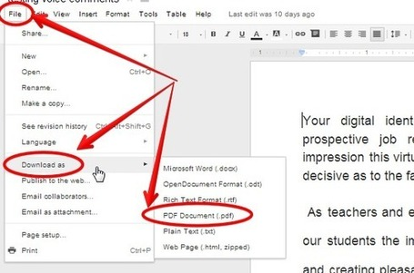 6 Tips Teachers Should Be Able to Do on Google Docs ~ Educational Technology and Mobile Learning | Moodle and Web 2.0 | Scoop.it