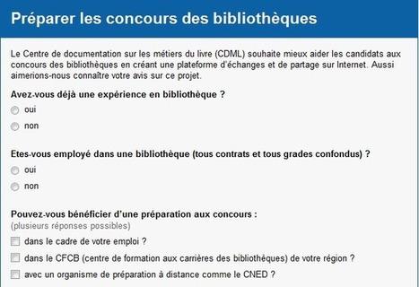Concours des bibliothèques : vers une préparation participative et collaborative | Enssib | concours bibliotheques | Scoop.it