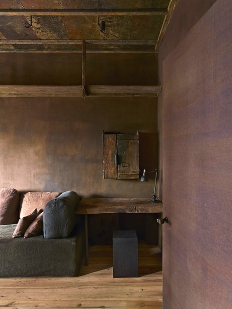 Raw Industrial Penthouse In Dark Earthy Shades | DigsDigs | Save the time.....☺☺☺ | Scoop.it