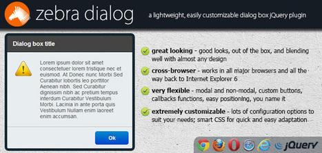 Zebra_Dialog, a lightweight dialog box jQuery plugin | Web Design & Development | Scoop.it