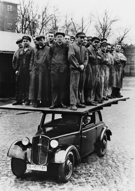 Demonstrating the strength of the DKW car chassis | History 2[+or less 3].0 | Scoop.it