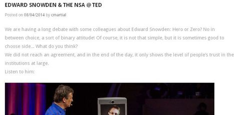 Edward Snowden & the NSA @ TED | Digital World | Scoop.it