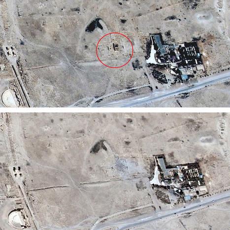 Des images satellite confirment la destruction d'un temple à Palmyre | Clic France | Scoop.it