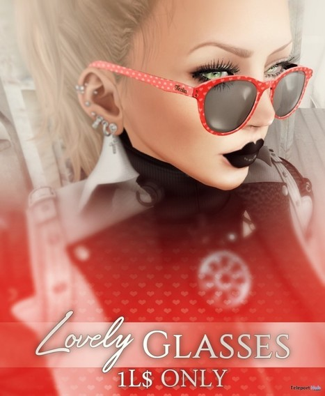 Lovely Glasses 3 Colors 1L Promo by Leticia's Store | Teleport Hub - Second Life Freebies | Second Life Freebies | Scoop.it