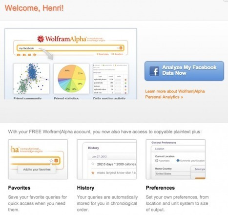 Wolfram Alpha analyse votre compte facebook | Time to Learn | Scoop.it
